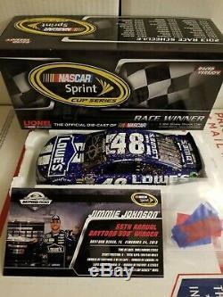 00048 Jimmie Johnson 1/24 Daytona 500 Raced Win Autographed Door Number 48