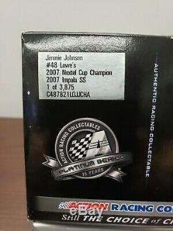 2007 Jimmie Johnson 2x Nextel Cup Champion #48 Lowe's 1/24 Diecast Rare Nib
