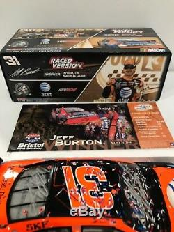 2008 #31 Jeff Burton AT&T Bristol Raced win Autographed By Childress & Jeff