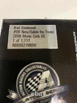 2008 #88 Brad Keselowski Autographed Navy Salute The Troops Chester Nimitz JRM
