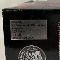 2008 Kasey Kahne Signed #9 Budweiser Race Win 124 Die Cast Dodge 1 Of 288 Auto