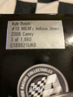 2008 Kyle Busch Autographed #18 Indiana Jones 1/24
