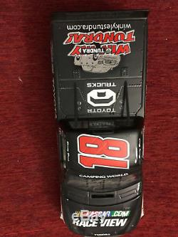 2010 1/24 ARC Kyle Busch #18 Autographed Bristol Sweep Set with pin