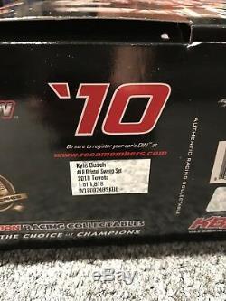 2010 Kyle Busch Bristol Sweep Set Autographed 124 Nascar Diecast