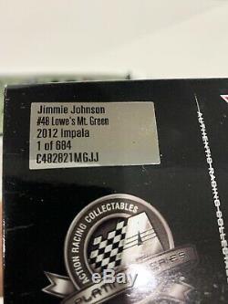 2012 #48 Jimmie Johnson Lowes Mountain Green Chevrolet Impala