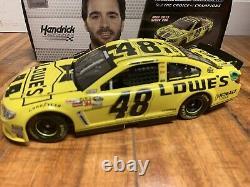 2013 Jimmie Johnson #48 Lowe's Yellow Daytona 1/24 #746/988 Rare Nascar Racing
