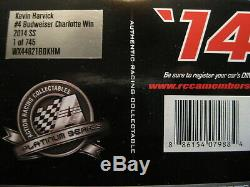 2014 Kevin Harvick 124 Action Diecast #4 Budweiser Charlotte Win CHAMP YEAR