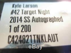 2014 Rookie Kyle Larson Autographed Night Car #42 7Photos Free Shipping 124