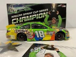 2015 #18 Kyle Busch Green Crispy M&Ms Cup Champion Autographed