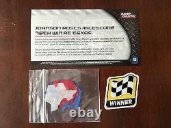 2015 Jimmie Johnson CHROME 75th Career Race Win Random Insert car 1 of 75 Texas