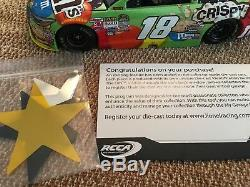 2015 NASCAR Championship Kyle Busch Autographed M&M'S Action 1 24 Galaxy Diecast