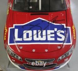 2016 Jimmie Johnson Lowe's Red Vest 1/24 Action NASCAR Diecast Autographed