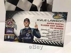 2016 Kyle Larson #24 DC SOLAR Eldora Dirt Truck Race Win autographed
