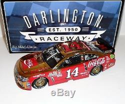 2016 Tony Stewart 14 Coke Darlington 1/24 Elite Diecast Color Chrome #42 of 58