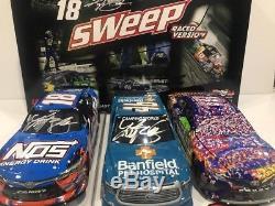 2017 #18 Kyle Busch Caramel NOS Banfield BRISTOL Raced Sweep Set AUTOGRAPHED
