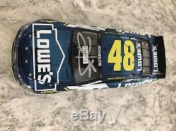 2017 Jimmie Johnson Lowes Color Chrome PROTOTYPE Signed By Jimmie And Chad