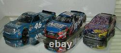 2017 Kyle Busch BRISTOL SWEEP RACED 3 car SET 1/24 cars AWESOME RACED VERSION