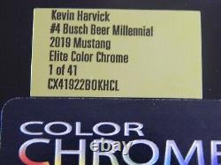 2019 Kevin Harvick # 4 Pink Millennial Color Chrome Elite 1/24 Action Diecast