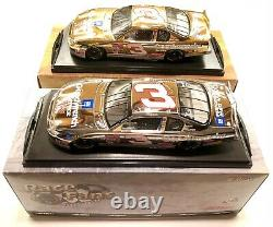2 Car Set 2001 Gold And Platinum Dale Earnhardt Sr. Goodwrench Action 1/24 Nice