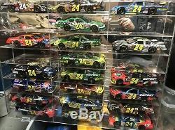80 Rcca Elite Jeff Gordon 24 NASCAR Display Cases Action Autograph Diecast 124