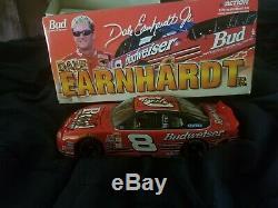 AUTOGRAPHED RARE Dale Earnhardt SR AND JR SIGNED 1/24 NASCAR #8 Diecast Rookie