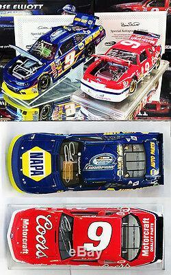 Autographed Chase & Bill Elliott Nascar Champions 2-car Set 1/24 Action Diecast
