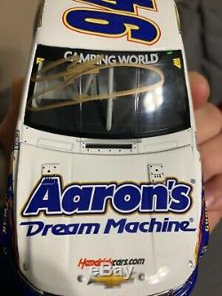 Autographed Chase Elliott 2013 #94 Aarons 1st Win Truck Diecast 1/24 Silverado