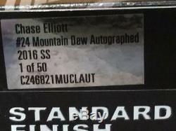 Autographed Chase Elliott 2016 Mountain Dew #24 Chevy 1/24 Action Diecast