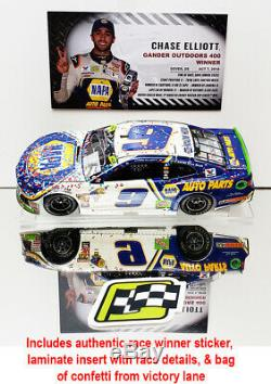 Autographed Chase Elliott 2018 Dover Win Raced Version Napa 1/24 Rcca Elite