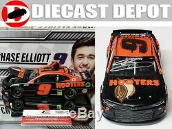 Autographed Chase Elliott 2020 Hooters Black Night Owl 1/24 Action