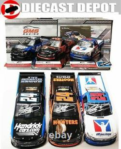 Autographed Chase Elliott Triple Truck Combo Hooters, Iracing Charlotte 1/24