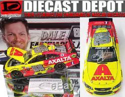 Autographed Dale Earnhardt Jr 2017 Axalta 1/24 Scale Action Nascar Diecast