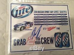 Brad Keselowski 2009 Chevy Impala Klondike Autographed Diecast & Postcard
