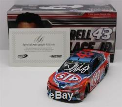 Bubba Wallace #43 2018 Stp Color Chrome Autographed 1/24 New Free Shipping