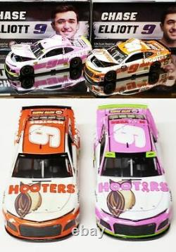 Chase Elliott 2019 Hooters 2-car Combo Standard And Give A Hoot Pink 1/24 Action