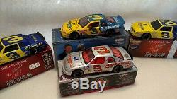 Collection of 9 Highly Collectible 124 Scale Dale Earnhardt Sr. Die Cast Cars