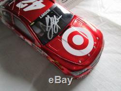 DIN #0001 2014 Kyle Larson 1 of 48 RARE Liquid Color Autographed Target 1/24