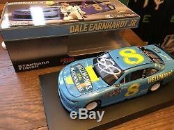 Dale Earnhardt Jr AUTOGRAPHED #8 DARLINGTON Throwback 1/24 NASCAR Diecast Car