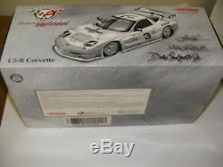 Dale Earnhardt Sr Jr #3 C5-R Corvette Platinum 1/18th Diecast Nascar Rolex New