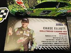 Din. #1 2018 Chase Elliott #9 Mtn. Dew Kansas Raced Win Elite