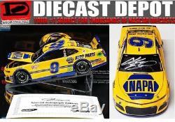 Door #9 Autographed Chase Elliott 2018 Napa Throwback 1/24 Elite Diecast Din#9