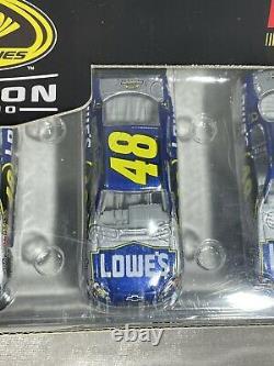 JIMMIE JOHNSON 2010 Action Collectibles Five Time Champion 164 Diecast Car Set