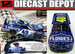 JIMMIE JOHNSON 2017 DOVER WIN RACED VERSION LOWE'S 1/24 ACTION new