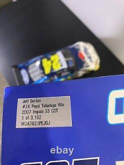 Jeff Gordon #24 2007 Pepsi Talladega COT 124 Diecast Raced Win Version