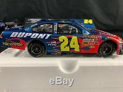 Jeff Gordon #24 NASCAR Diecast Car 124 Autograph 2008 DuPont B2 Action Racing
