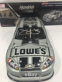 Jimmie Johnson 2012 Lowe's Cortez Silver RARE 1/504 AUTOGRAPHED