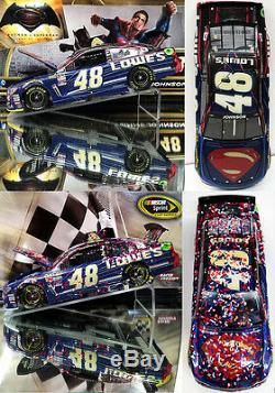 Jimmie Johnson 2016 Superman California Win Before & After Battle 2-car Diecast