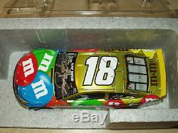 KYLE BUSCH SIGNED AUTOGRAPHED 2016 M&Ms NASCAR 1/24 LIQUID COLOR DIECAST LIM ED#