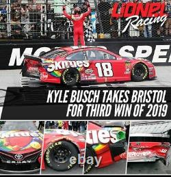 Kyle Busch 2019 Bristol Win Raced Version Skittles Toyota Camry 1/24 Action
