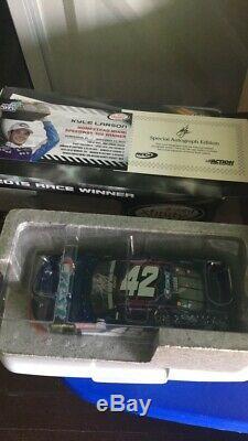 Kyle Larson 2015 #42 Crest Homestead Raced Win Autographed NASCAR Diecast Car